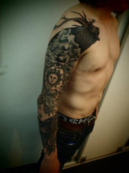 animal tattoo sleeve designs right sleeve animal tattoo for guys full and half sleeve