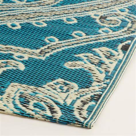 blue and white pacifica reversible floor mat world