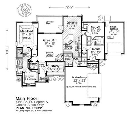 fillmore design floor plans fillmore chambers design group main floor house plan