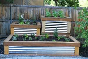 beautiful raised garden planter boxes corrugated metal