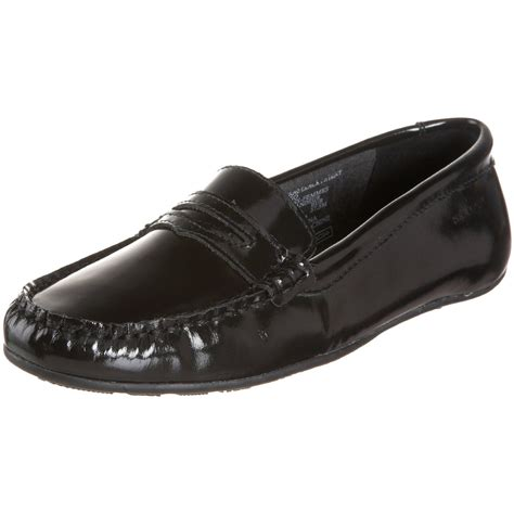sebago loafers sebago lucerne loafers in black black patent lyst