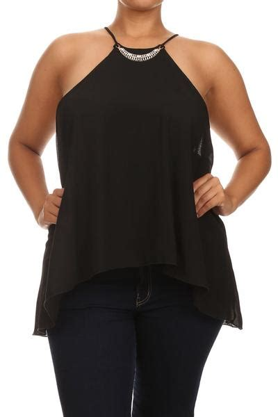 Black Mesh Top Big Size plus size neckline sheer black top plussizefix