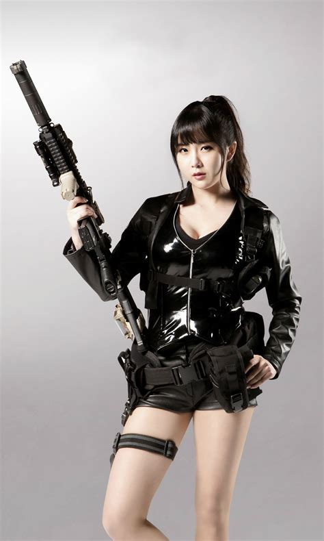 topgun women hairstyle cho hyun young sexy gun woman rainbow cho hyun young