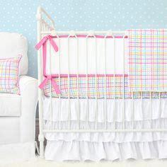 White Eyelet Crib Skirt by Bright Baby Nursery Ideas On Baby Bedding