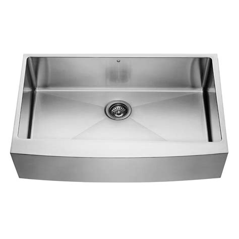 C Kitchen With Sink Vigo Farmhouse Apron Front Stainless Steel 36 In Single Bowl Kitchen Sink Vgr3620c The Home Depot