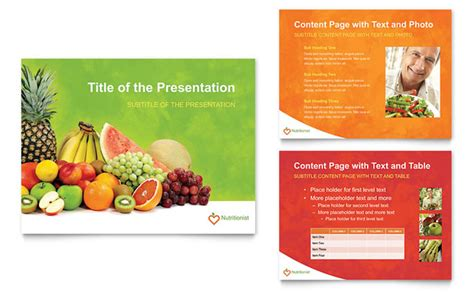 Nutritionist Dietitian Powerpoint Presentation Template Food Safety Ppt Templates Free
