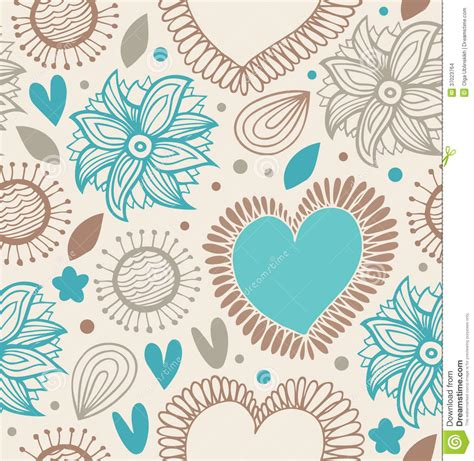doodle pattern background floral decorative seamless pattern doodle background with