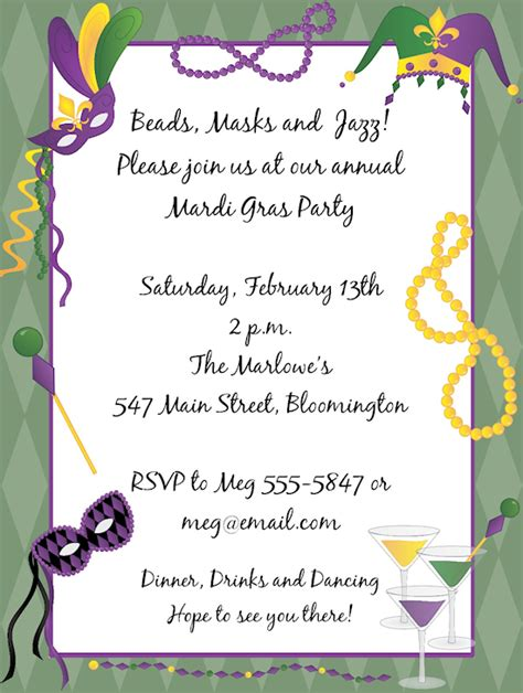 mardi gras invitation template mardi gras invitations