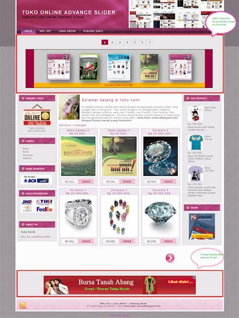 template toko online versi mobile template toko online professional tutorial toko online