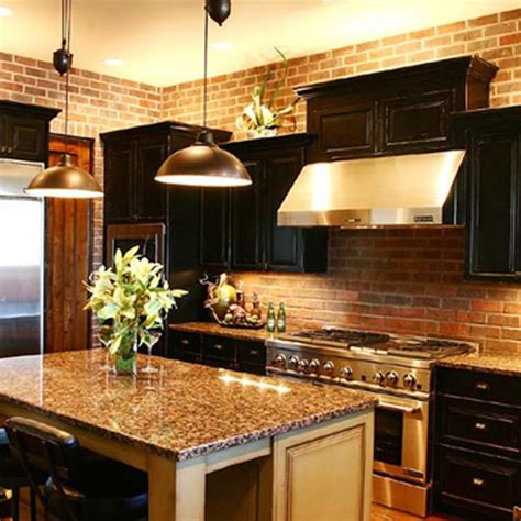 Brick Kitchen Cupboards by Cabinets With Granite And Brick Home And Home Decor