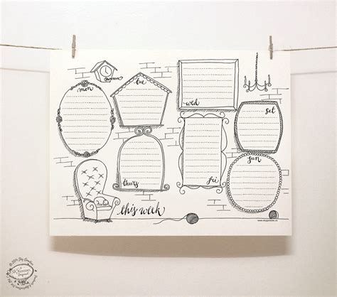 for doodle template doodle perpetual weekly planner organizer wall of paintings