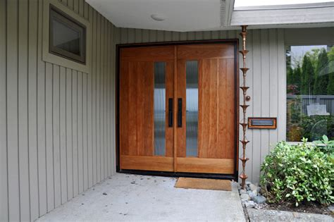 mid century modern master suite midcentury entry