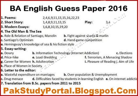 paper pattern of english b a punjab university how to pass ba english language paper in punjab university