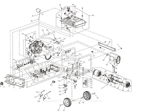 assembly diagram generac 0066730 rs7000e parts diagram for assembly
