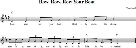 row your boat sheet music row row row your boat recorder sheet music
