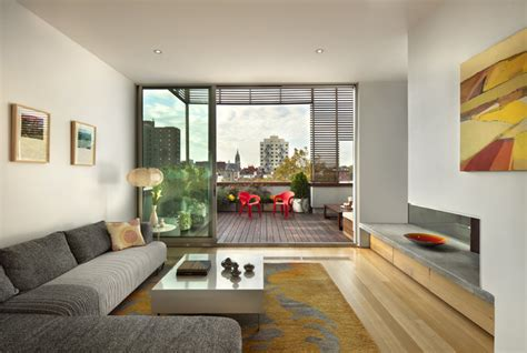 balcony living room design wyckoff penthouse living room and deck contemporary living room
