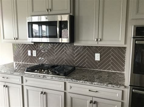 grey glass tile backsplash awesome decor modern greige