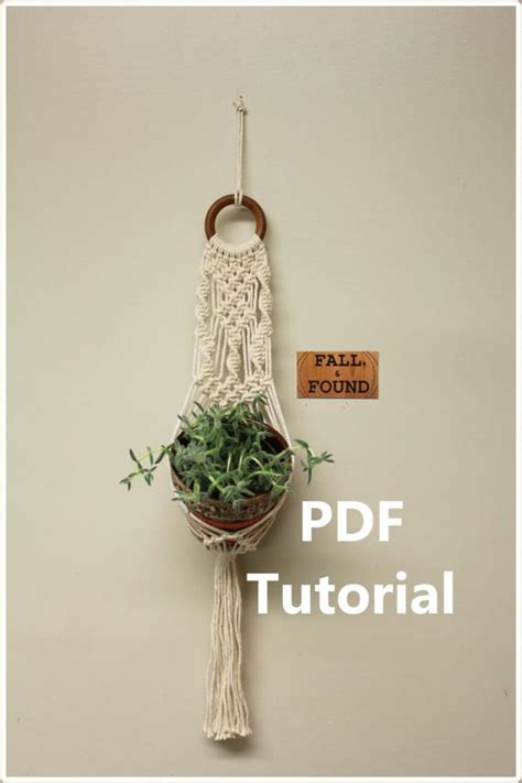 Free Macrame Patterns Pdf - best 25 macrame plant hanger patterns ideas on