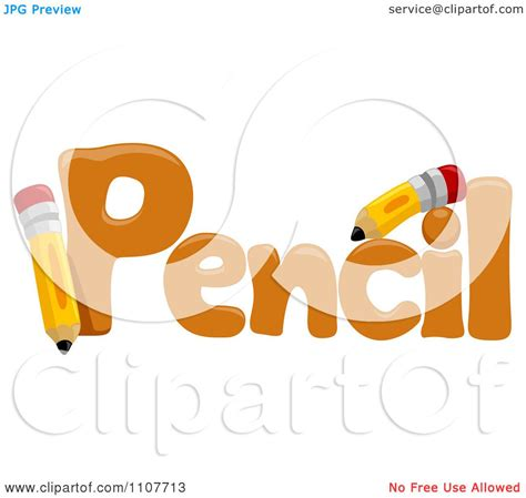clipart word clipart the word pencil for letter p royalty free vector