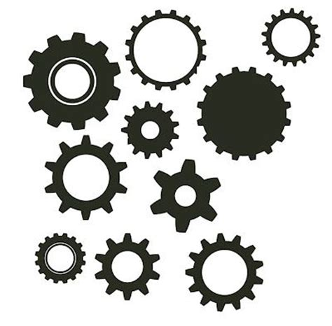 Stencil Machine Gear By 1airbrush lots of free svg files gears crafts silhouette ideas