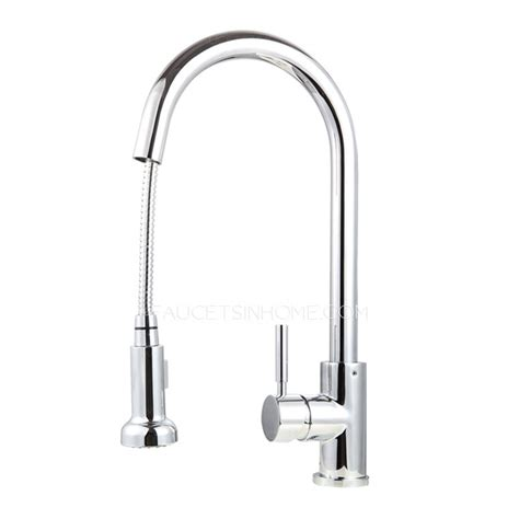 Professional Kitchen Faucets professional chrome copper rotatable pullout kitchen faucet