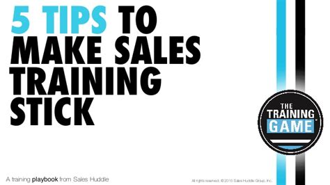 5 tips to make sales training stick