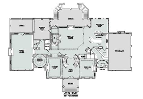 Mansion Home Floor Plans 14 000 Sq Ft First Floor Southgate Residential Huge