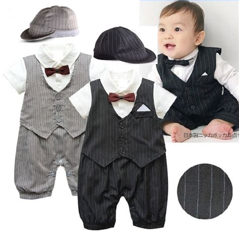 Romper Baby Tuxedo Tie baby boy wedding formal tuxedo suit romper clothes