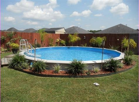 landscaping around above ground pool design pool