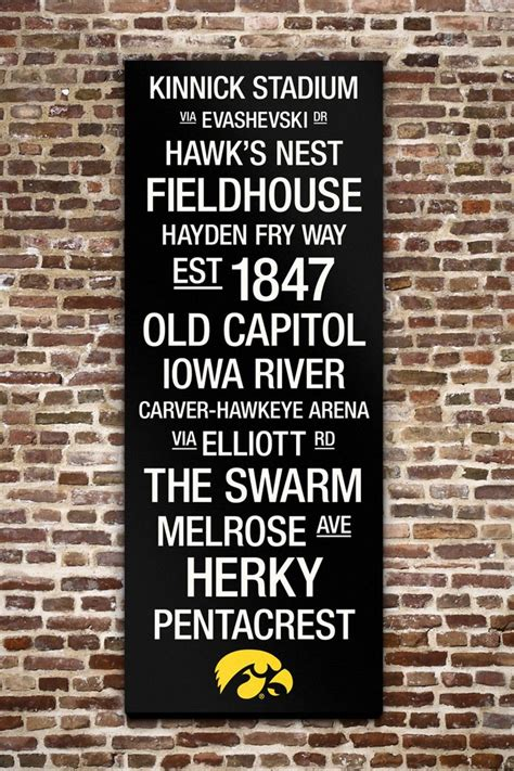 iowa hawkeyes college town wall with logo 40 quot x 16