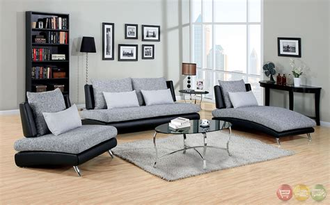 gray living room set saillon contemporary gray and black living room set with