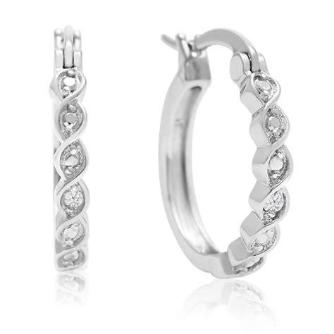 Rpcurl 17116 2 Time Silver List White twist hoop earrings 1 2 inch