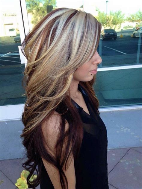 Long Hair Big Chunck Color Ideas For Summer | blonde and red hair love long medium hair pinterest