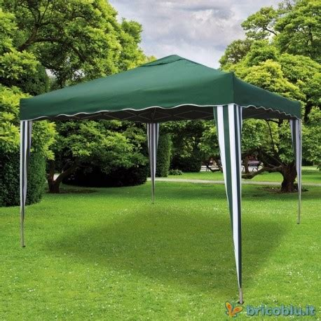 gazebo pieghevole brico gazebo richiudibile mt 3x3 verde con custodia brico