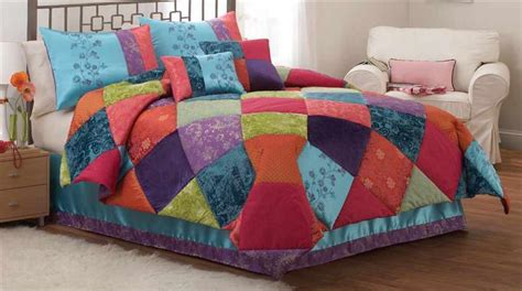 colorful queen comforters teen girl kashmere gem colorful multicolor 3pc full queen
