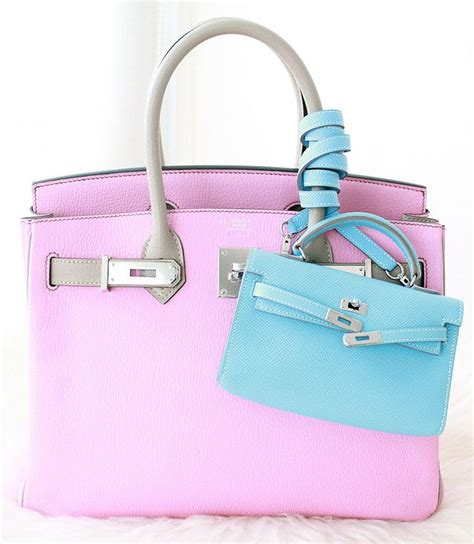 Hermes Birkin Mini 3064 hermes pink grey birkin bag and mini light blue handbags pink grey