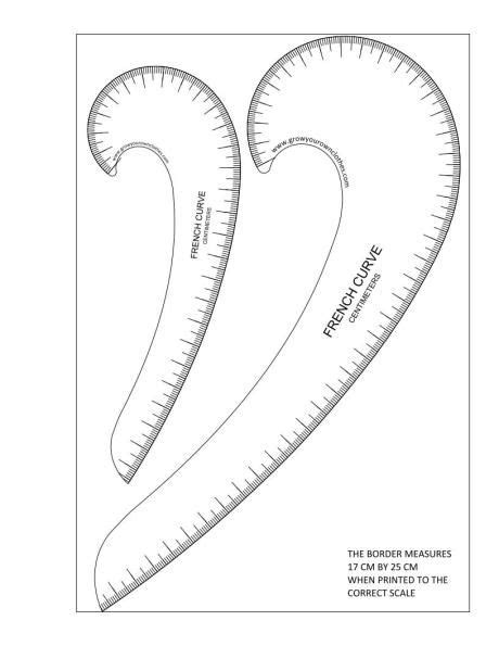 pattern drawing tool printable french curves marked in inches sewing