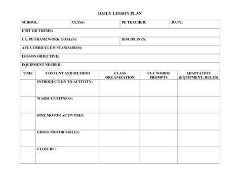 Soccer Lesson Plan Template by Soccer Lesson Plan Template Elipalteco