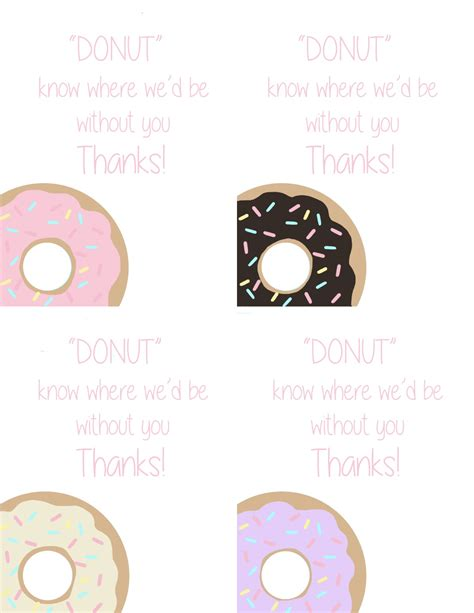 printable donut images donut printable for teacher appreciation week skip to my lou