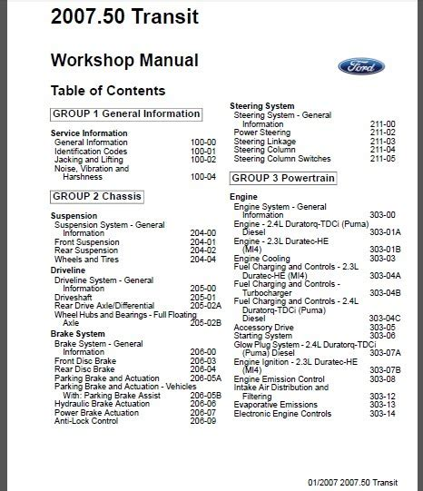 auto repair manual free download 2009 ford crown victoria instrument cluster ford transit tourneo 2007 workshop service repair manual
