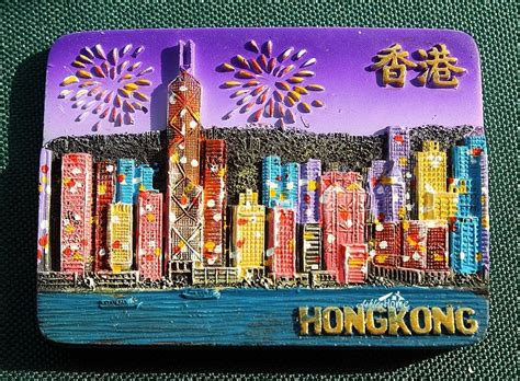 Souvenir Tempelan Magnet Shanghai Impression hong kong china tourist travel souvenir 3d resin