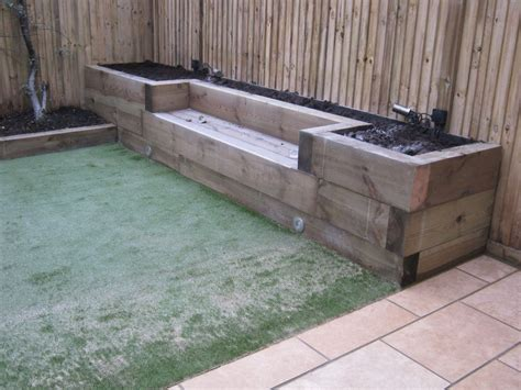 Garden Sleeper by Railway Sleepers 171 Garden Gurus Landscape Gardening In