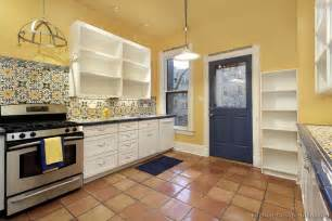 Yellow Splashback Kitchen - mexican kitchen design pictures and decorating ideas