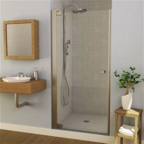 swing open shower doors maax insight 36 5 in x 67 in semi framed pivot shower
