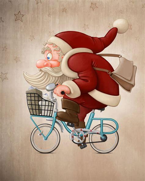 imagenes de santa claus rasta 骑自行车的圣诞老人 图片素材 编号 20131209033306 卡通人物 漫画插画 图片素材 淘图网