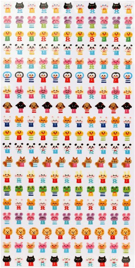 Sticker Small small animal stickers wonderful friends japan sticker