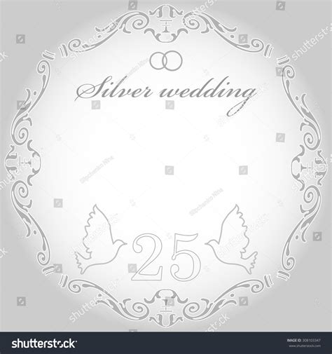 Wedding Background Silver by Silver Wedding Wedding Card Or Invitation With Abstract