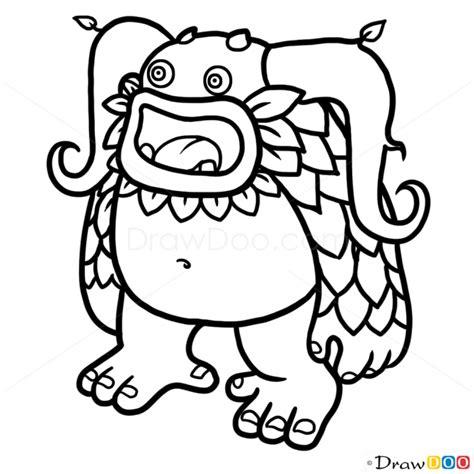 singing monsters coloring pages how to draw entbrat singing monsters
