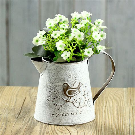 Vase Vintage by Iron Classical Vintage Vase Style Bird Home