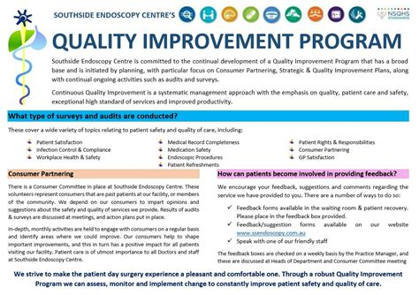 quality improvement program southside endoscopy centre